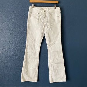 American Eagle White Original Boot Cut Jeans 6
